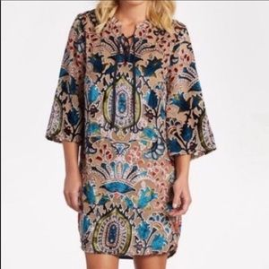 Feathers by Tolani Velvet Burnout Floral Tunic Top